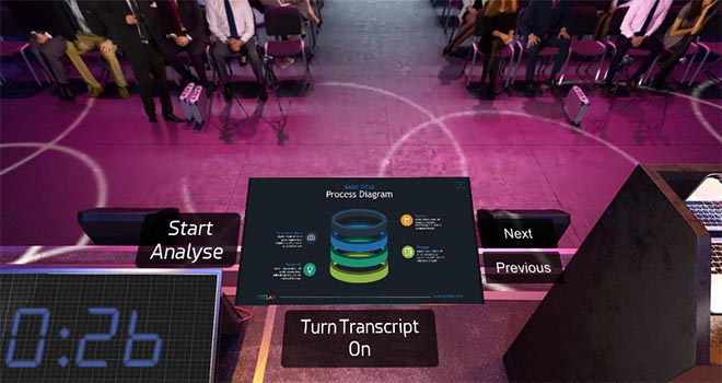 Practice a conference presentation with your own slides in VR