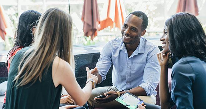 Emotional intelligence in social skills greeting