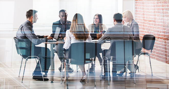 Group of people at a business meeting