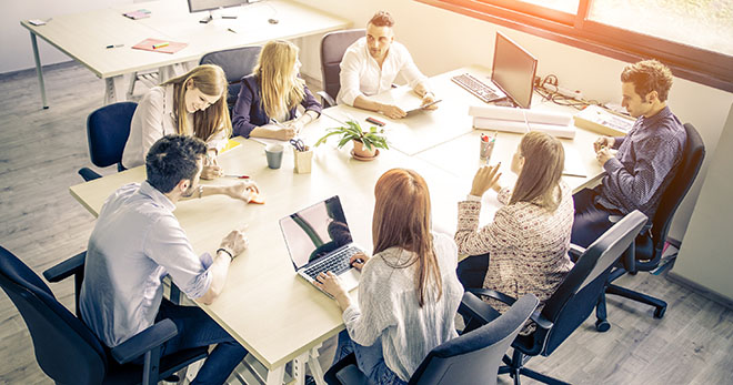 Communication skills in the workplace meeting