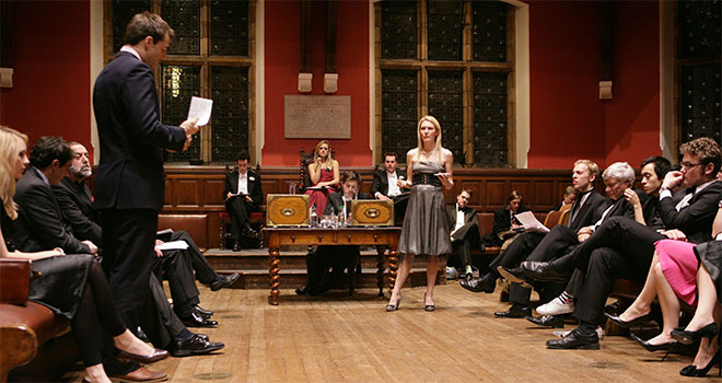 Debating event at the Oxford Union