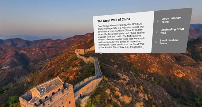 Google Expeditions - great wall of China
