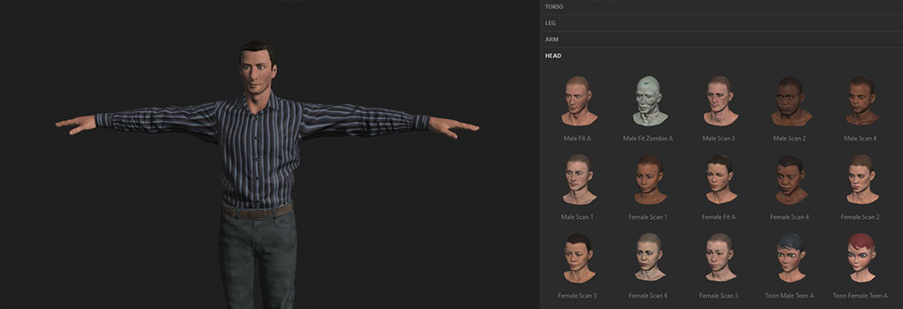 Creating avatar body and facial animations for VR