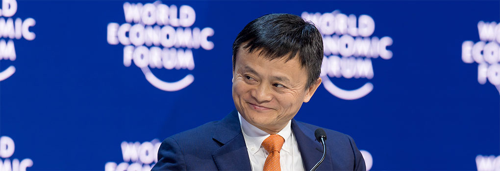 Jack Ma telling stories