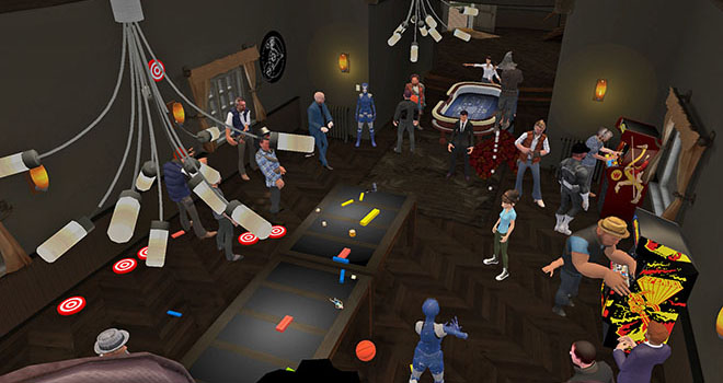 Party inside High Fidelity which can host multiple players
