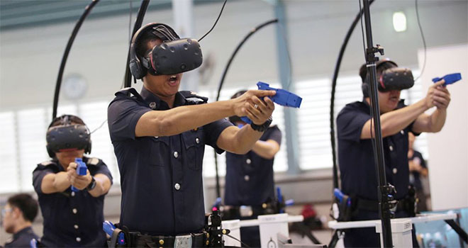 Law enforcement using VR to train