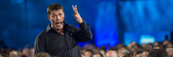 Top motivational speaker Tony Robbins