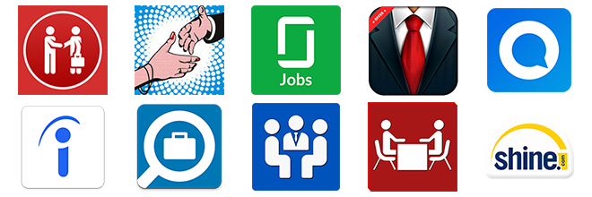 Job interview preparation and search apps