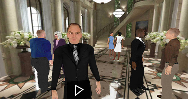 Business networking in VR to improve active listening skills