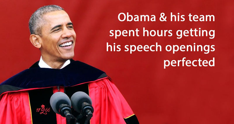 Obama spent hours preparing for his speeches