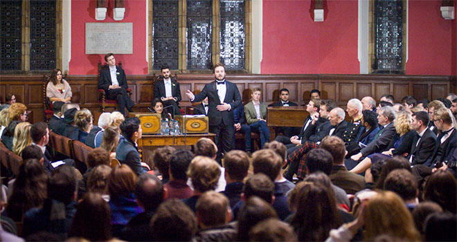 Impromptu speech often used at Oxford University debates
