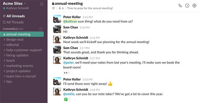 Slack is a great tool for improving communication in the workplace