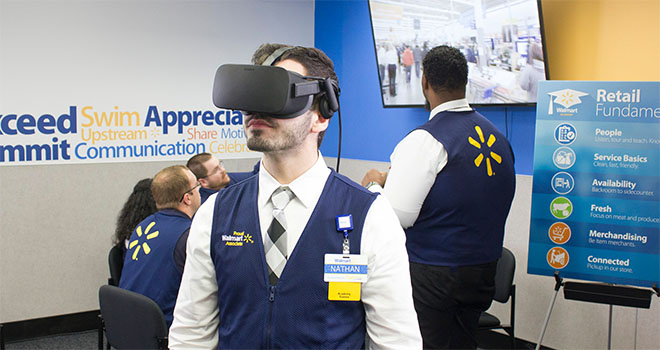 STRIVR train Walmart employees in VR simulations