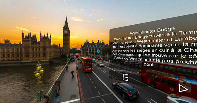 Learn London Culture in the VR English Language app