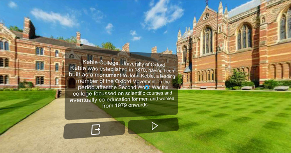 Learn Oxford Culture in the Language VR app