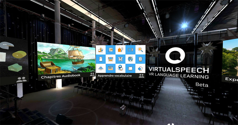 Learn English by picking from different experiences in the Virtualspeech Language VR app