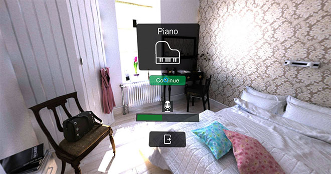 Learn bedroom vocabulary in Language VR app