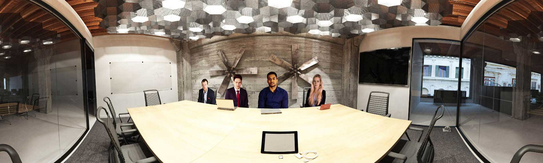 Job interview room in virtual reality (VR) for interview practice