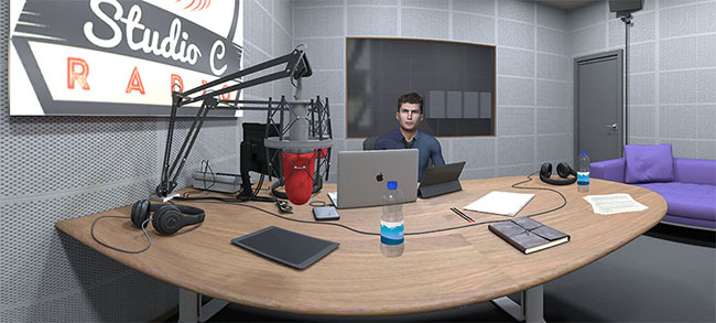 Radio interview in VR