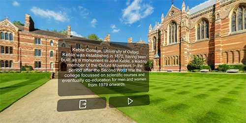 Learn English virtual reality culture in Oxford, England
