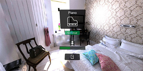 VirtualSpeech vocab bedroom virtual reality environment