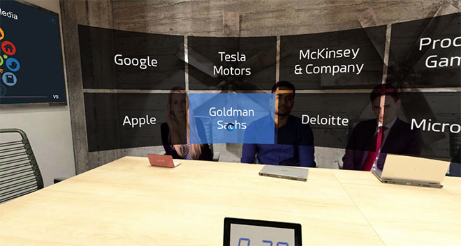 Goldman Sachs interview questions in virtual reality (VR)