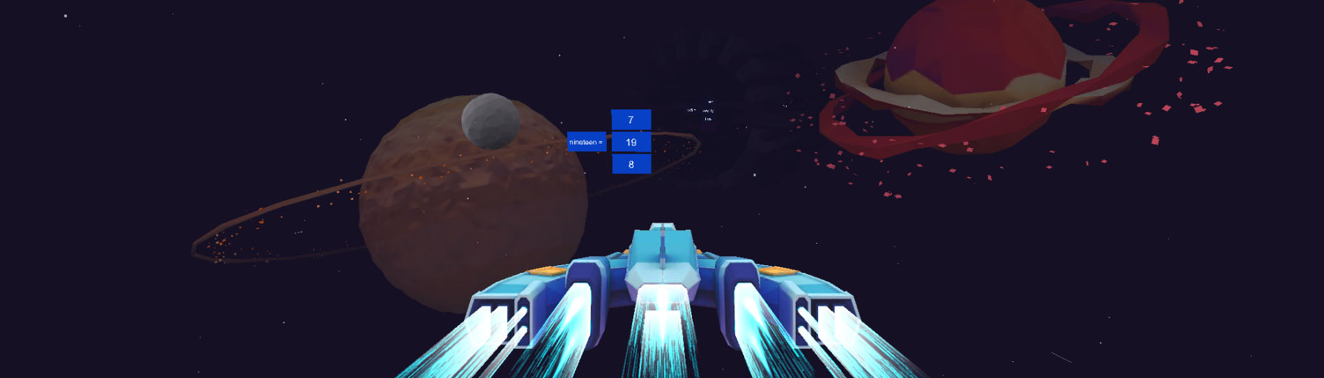 VR space game to learn English and other languages in a fun way